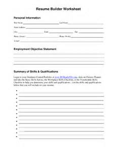 building a resume worksheet fill in the blank resume worksheet fill printable fillable blank pdffiller