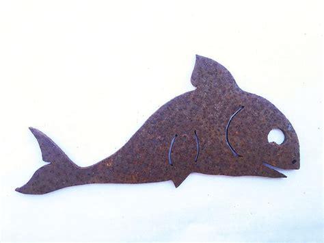 fische für teich kaufen angler mit fisch 60x90cm rost figur edelrost metall