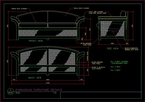 details of a sofa dwg detail for autocad designs cad