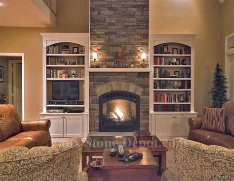 Faux Stone Fireplaces