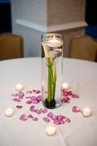 Simple wedding centerpieces of Picasso Calla Lilies ...