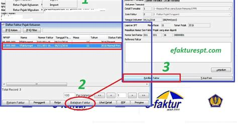 melakukan pembatalan faktur pajak keluaran di aplikasi e faktur yang sudah upload efaktur dan espt