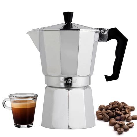 vonshef cafetiere italienne pour faire du caf 233 expresso italien machineacafe net
