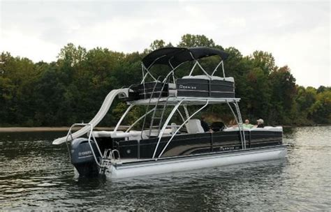 Used Pontoon Boats With Upper Deck And Slide For Sale by Pontoon Upper Deck Slide Double Decker From Premier Sure