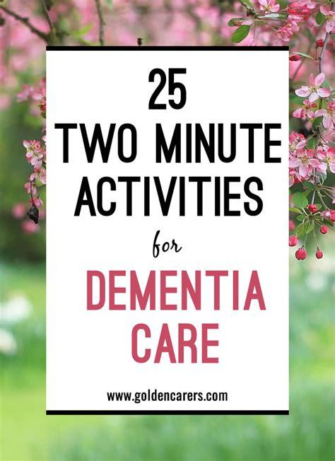 minute activities  dementia care