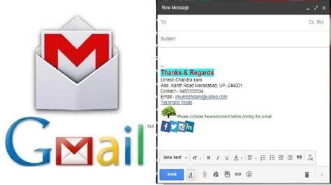 add create permanent signature logo  email