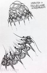 Enioken Zenith Eni Oken Think Zen Patterns Tangle Zentangle sketch template