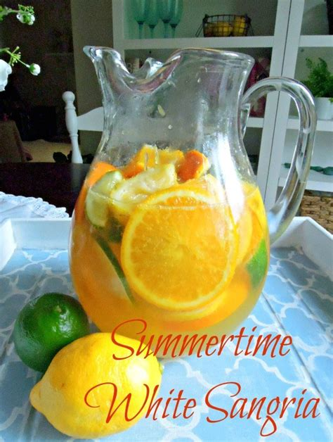 white wine sangria recipe summertime white sangria