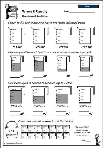 capacity worksheets year 7 reading a measuring scale to 1000ml click to download math teaching math math lessons