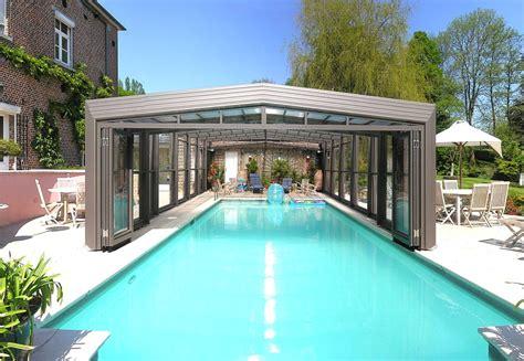 abri haut piscine poolabri abri piscine haut telescopique 3 angles