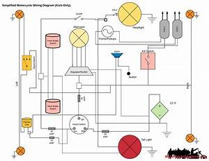 Motorcycle Without Battery Basic Wire Diagram And