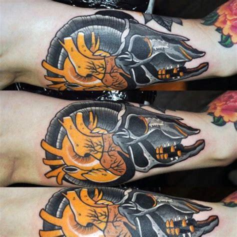 goat skull tattoo designs  men manly ink ideas