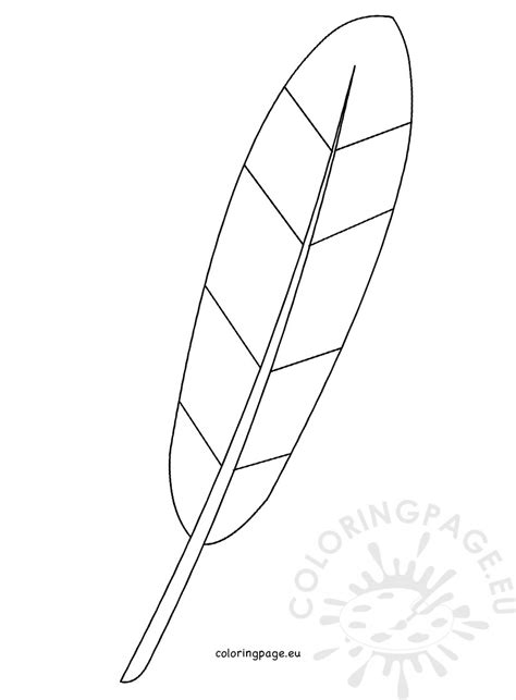 turkey feather template coloring page