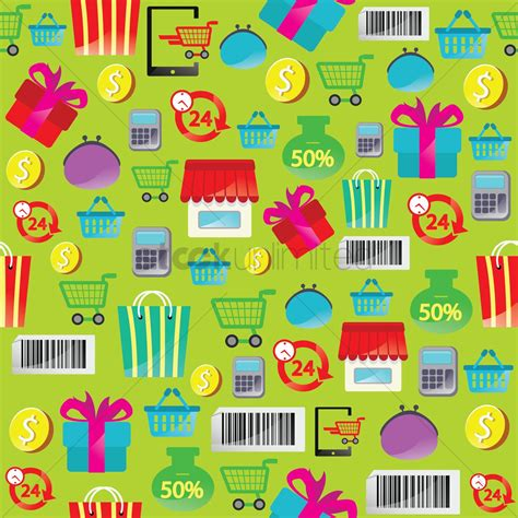 shopping theme background vector image