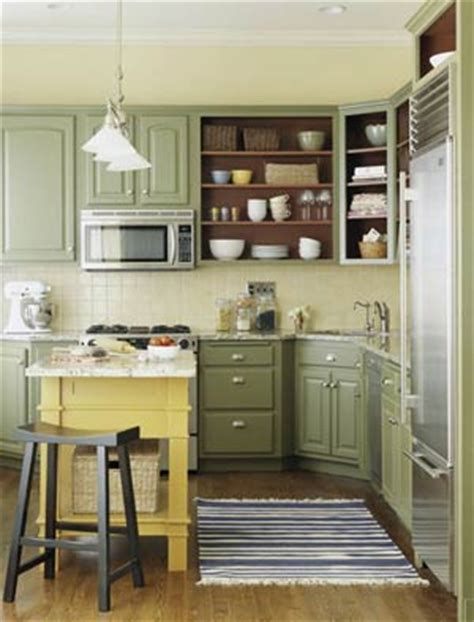Green Kitchen Cabinets Painted by Painted Kitchen Cabinets