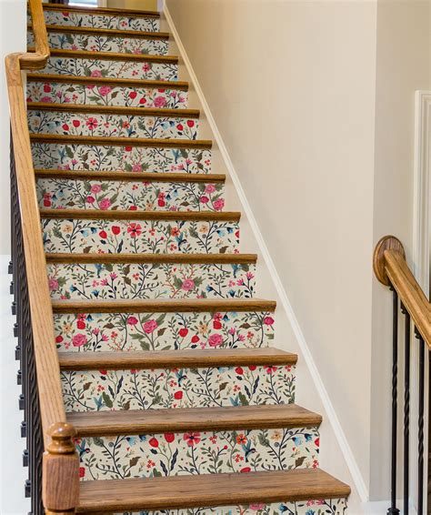 unexpected ways   removable wallpaper stair decor