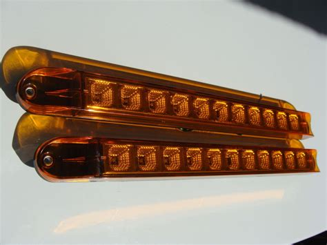 2 led sealed clearance light bar lens trailer truck