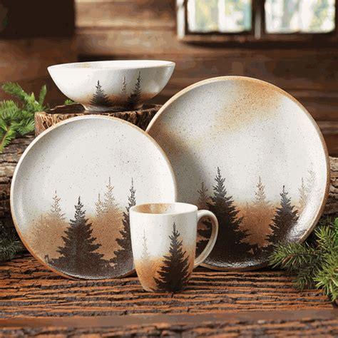 pinewood forest dinnerware 16 pcs