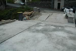 Faire Du Beton : terrasse avec l g re pente gr ce du b ton toupie pompe ~ Zukunftsfamilie.com Idées de Décoration