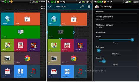 interfaz de windows phone en android