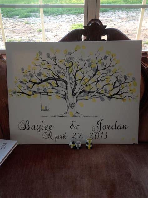 25 best ideas about wedding fingerprint tree on wedding guest tree thumbprint tree