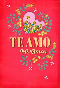 Make Lists Te Amo Mi Amor Spanish Language Love Card Greeting