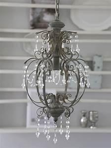 Deckenlampe Shabby Chic : chic antique deckenlampe l ster shabby chic metall grau romantik landhausstil einrichten und ~ Frokenaadalensverden.com Haus und Dekorationen