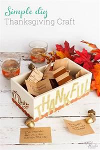 Simple Thanksgiving Decoration Thankful Box Craft