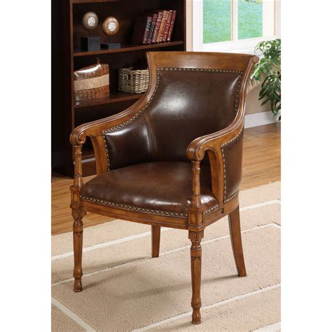 antique oak chair furniture of america antique oak accent chair ebay 1292