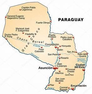 Mapa Do Paraguai  U2014 Vetor De Stock  U00a9 Artalis  39345289