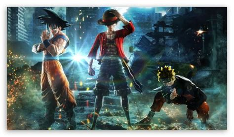 Follow the vibe and change your wallpaper every day! Jump Force - Goku, Naruto, Luffy Ultra HD Desktop ...