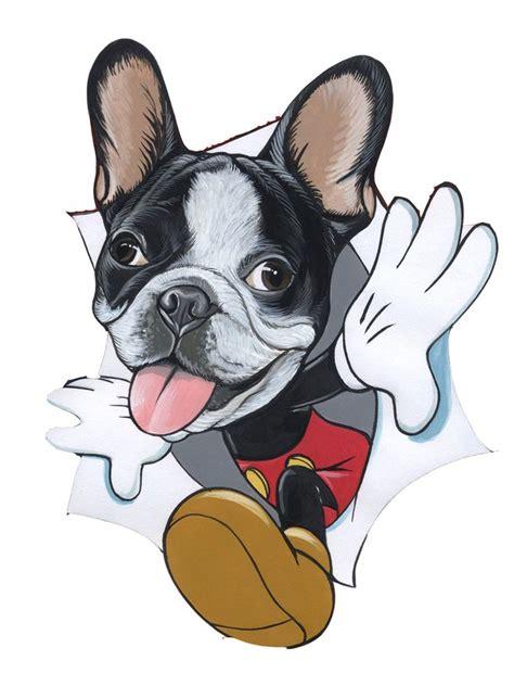 french bulldog  mickey mouse sketch  jeroen teunen www