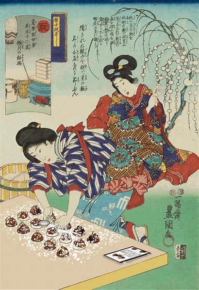 Ancient Gifs Japanese Animated Ukiyo Prints Today