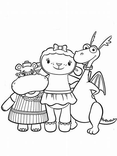 Doctora Juguetes Dibujos Doc Dibujo Mcstuffins Amigos