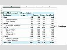 Excel Pivot Tables Filtering Data