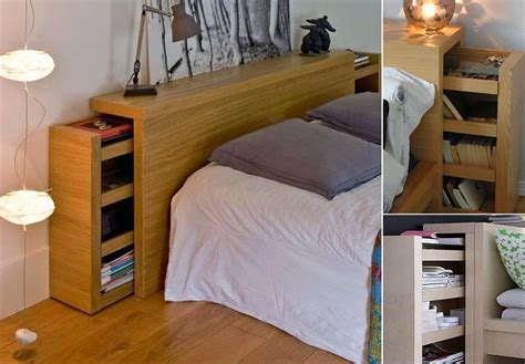 Headboard With Open Shelves And A Hidden Pull-out Storage