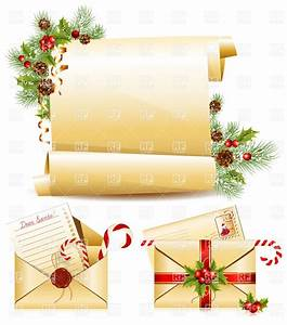 Christmas symbols letters to santa and christmas scroll for Scroll letter from santa