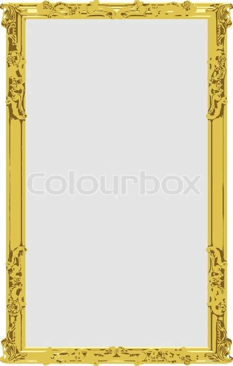 vector gold frame stock vector colourbox