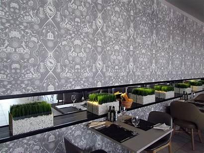 Hotel Ice Fire Restaurant Protea Fabrics Wallpapers