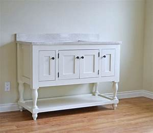 "Ana White 48"" Turned Leg Vanity - DIY Projects"