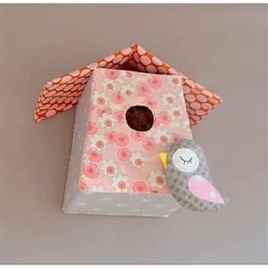 nichoir avec petit oiseau fait main tissu liberty With affiche chambre bébé avec commande fleurs en ligne