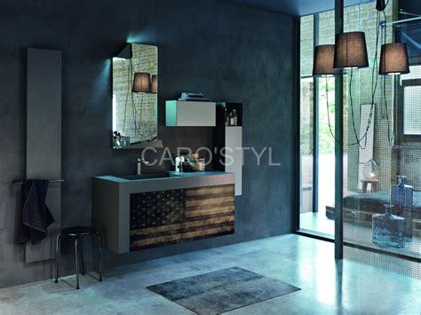 meuble de salle de bains suspendu vintage et design