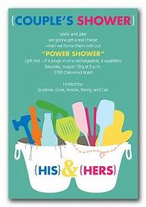 bridal shower invitations tips for couples showers With his and her wedding shower ideas