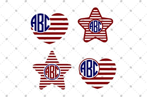 Use the templates for crafting, cutting. 4th Of July Svg Monogram - Free SVG Cut Files for Cricut ...