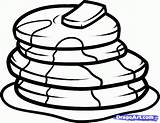 Pancake Coloring Pages Pancakes Draw Step Culture Pop Source sketch template