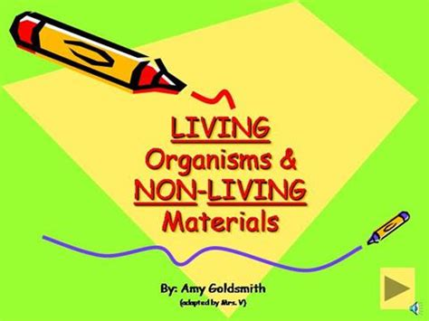 living and non living things authorstream