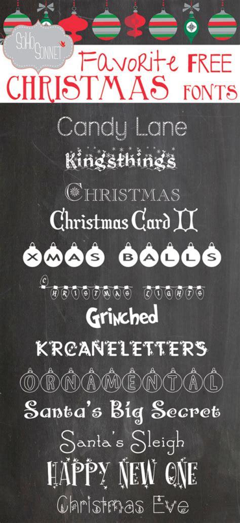 favorite  christmas fonts sohosonnet creative living