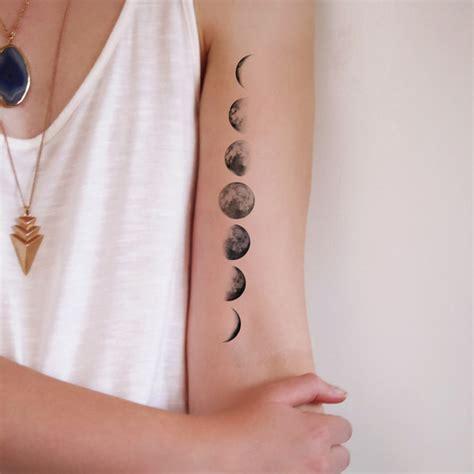 moon phase temporary tattoo tattoorary feedpuzzle