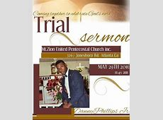 Trial Sermon at 3267 Jonesboro Rd Se, Atlanta, Georgia