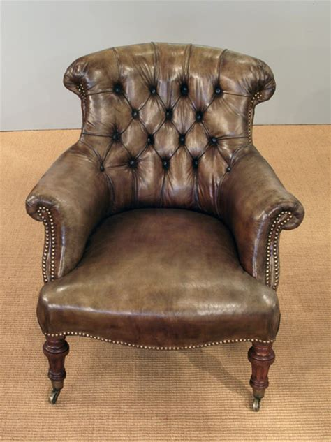 antique leather armchair victorian armchair victorian button  chair  leather chair